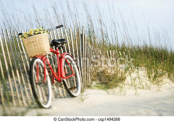 Bicicleta con flores. - csp1494266