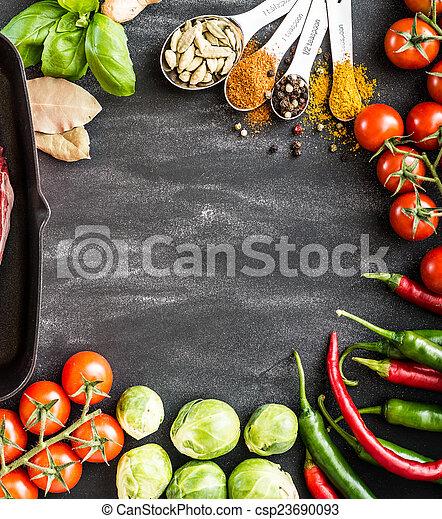 Fondo de comida - csp23690093