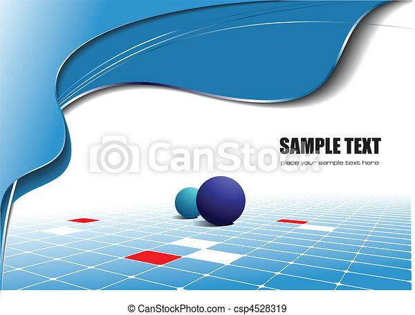 Abstracción de onda azul - csp4528319