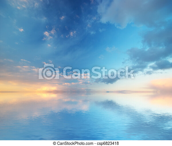 Formación del cielo. Composición de la naturaleza. - csp6823418