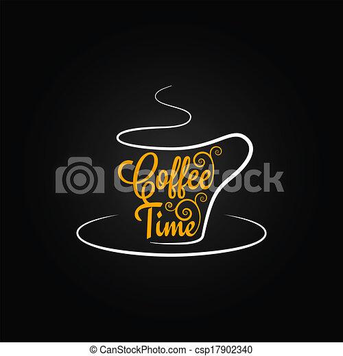 Fondo de diseño de placas de café - csp17902340