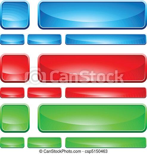 Formas de vidrio, botón - csp5150463