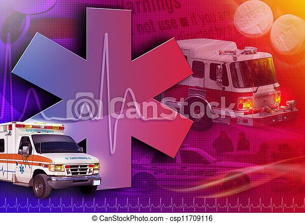 Una ambulancia de rescate médico foto abstracta - csp11709116