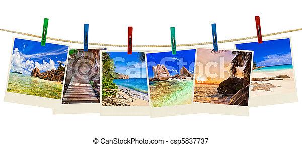 Fotografía de playa de vacaciones en alfileres - csp5837737