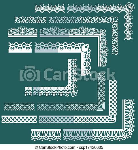 Frame Elementos establecidos - diferentes bordes de encaje y fronteras - csp17426685