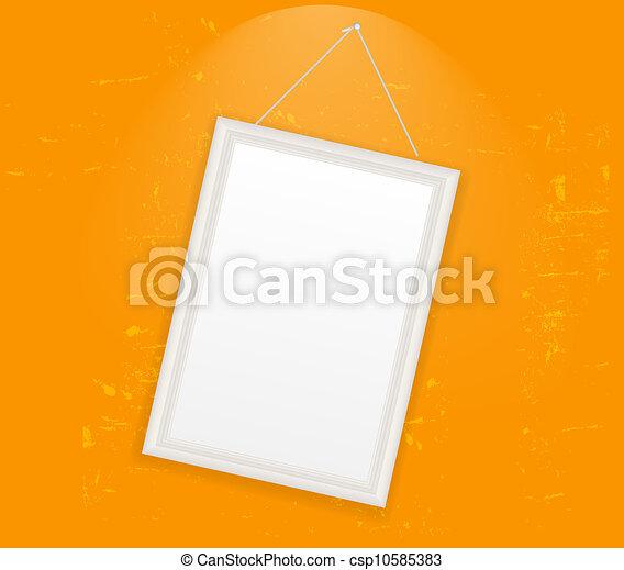 Frame en la ilustración del vector retro - csp10585383