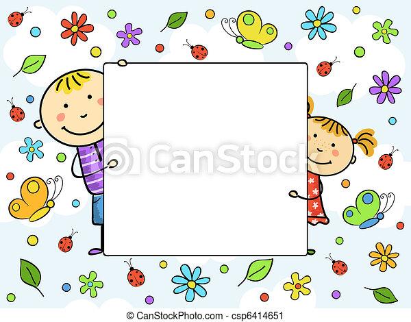 Un marco para niños. - csp6414651