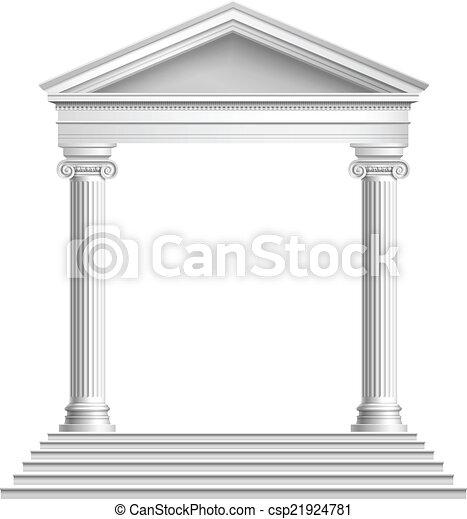 Un templo con columnas - csp21924781