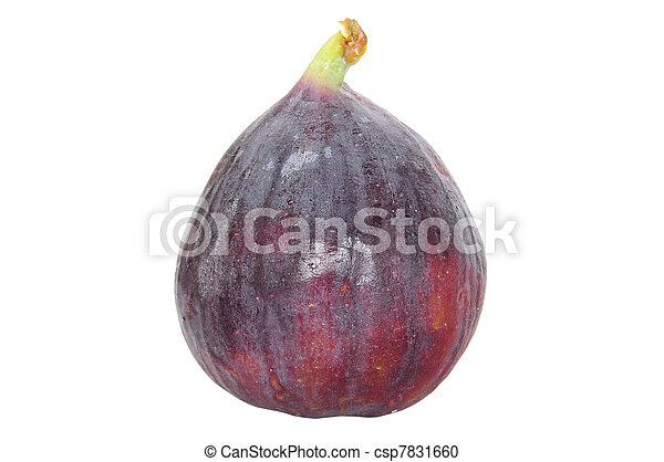 Fruta fresca de higo aislado en blanco - csp7831660