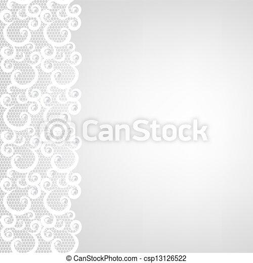 Frontera de encaje y perlas - csp13126522