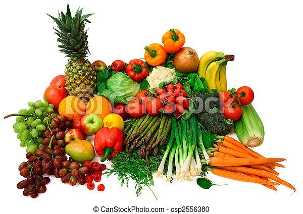 Vegetales frescos y frutas - csp2556380
