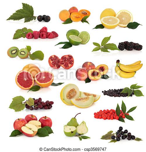 Colección de frutas - csp3569747