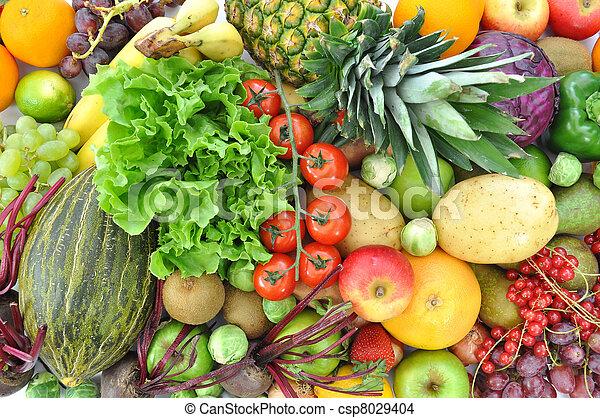 Fruta y verduras - csp8029404