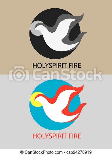 Fuego de espíritu santo - csp24278919