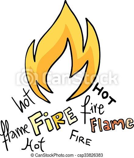 icono de fuego - csp33826383