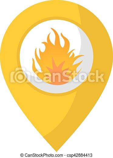 Icono de ubicación de fuego - csp42884413