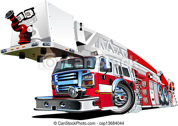 Un camión de bomberos - csp13684044