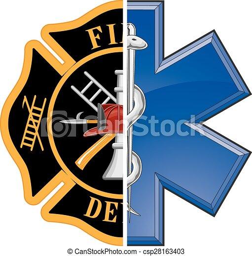 Fuego y rescate - csp28163403