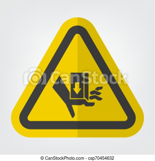 Fuerza de aplastamiento de manos de encima signo símbolo - csp70454632