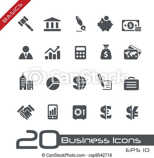 íconos empresariales y financieros / / básicos - csp9542716