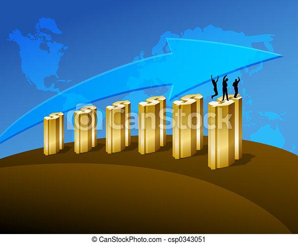 Los negocios aumentan - csp0343051