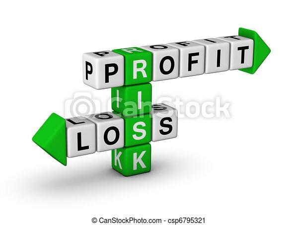 Riesgo: lucro y pérdida - csp6795321