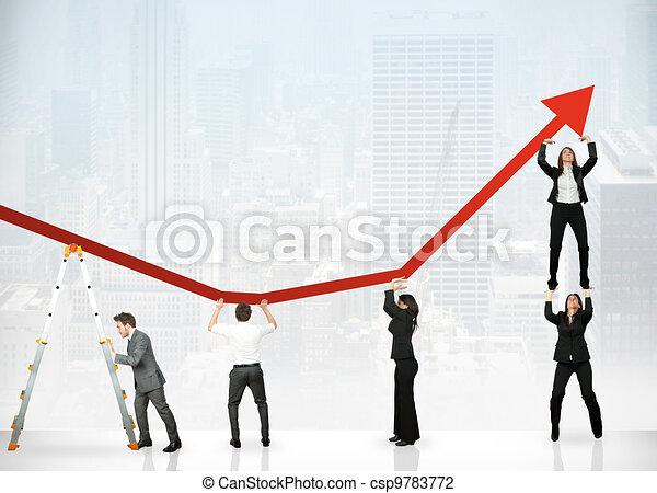 Trabajo en equipo y ganancias corporativas - csp9783772