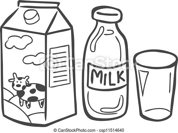 Un garabato de leche - csp11514640