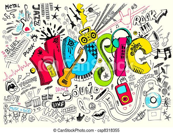 Música garabato - csp8318355