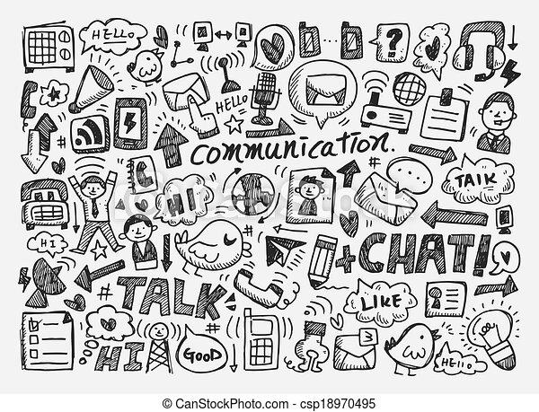 Trasfondo de comunicación - csp18970495