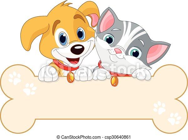 Señal de gato y perro - csp30640861