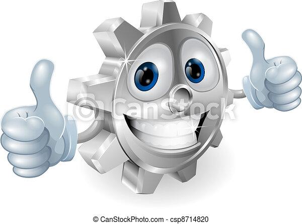 Gear dando pulgares a la caricatura - csp8714820