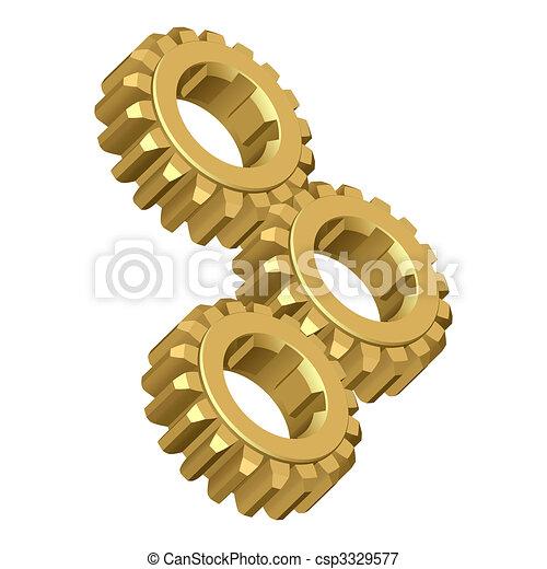 Gear. - csp3329577