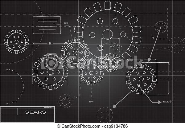 Gears de fondo - csp9134786