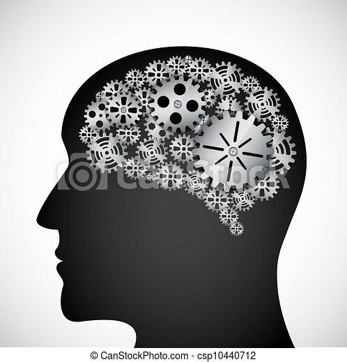 Gears en el perfil mental - csp10440712
