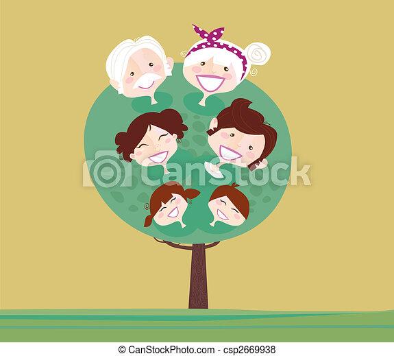 Gran árbol genealógico - csp2669938