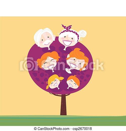 Gran árbol genealógico - csp2670018