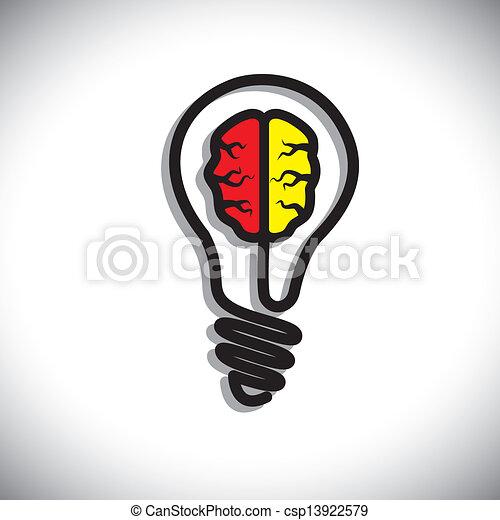 Concepto de la generación de ideas, solución problema, creatividad - csp13922579