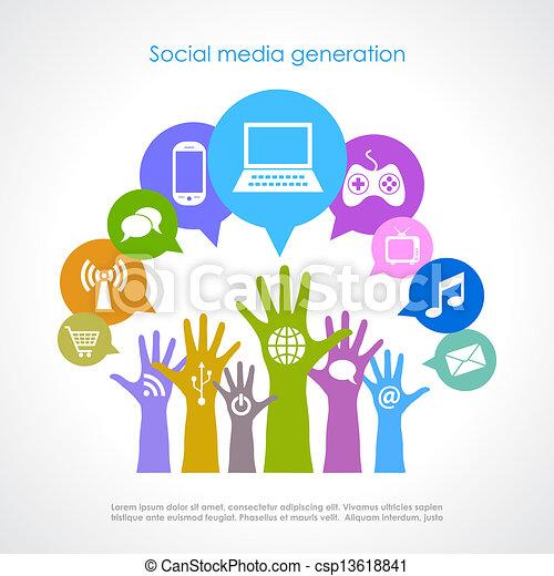 Generación de medios sociales - csp13618841