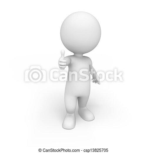 Tres blancos - csp13825705