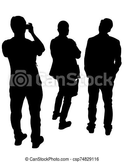 gente, cinco, grupo - csp74829116