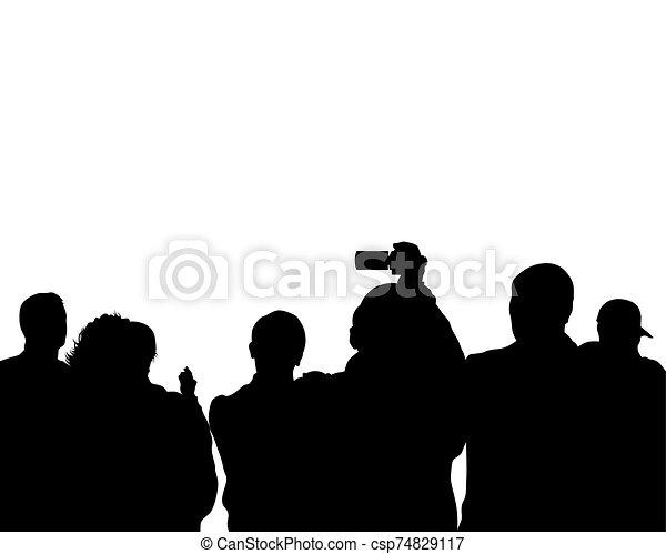 gente, cuatro, grupo - csp74829117