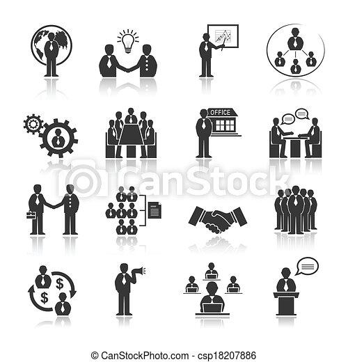 Gente de negocios conociendo iconos - csp18207886