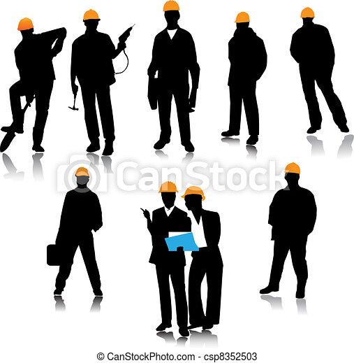 Gente del constructor - csp8352503