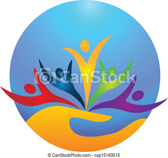 Gente feliz logo vector - csp15193515