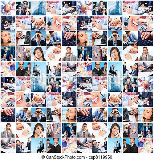 Gente de negocios collage. - csp8119950