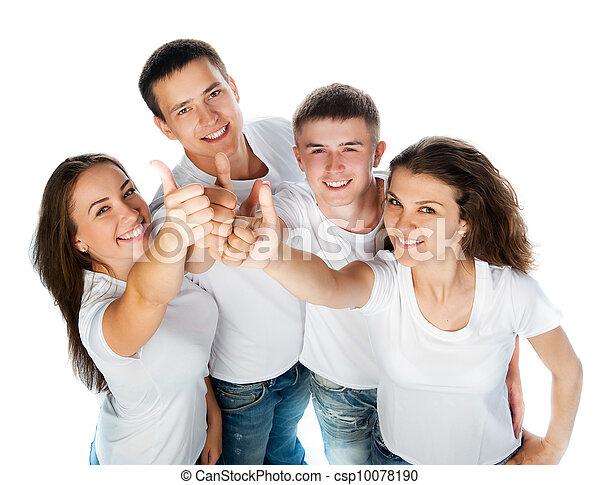 Gente joven sonriendo - csp10078190