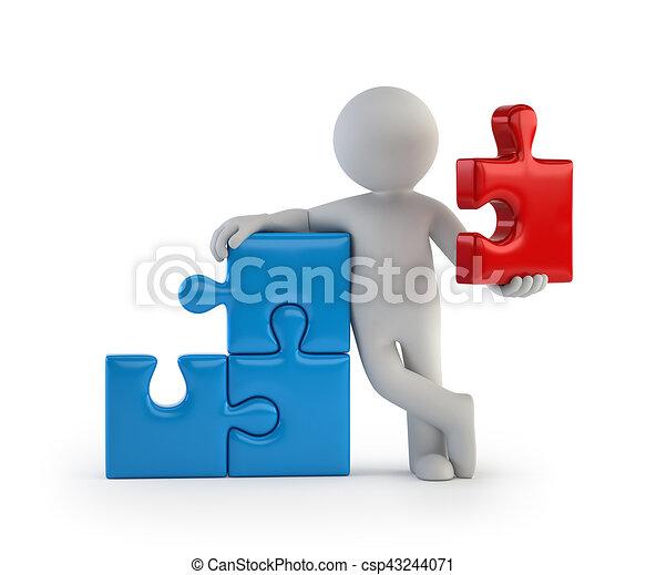 3D personas pequeñas - parte principal - csp43244071