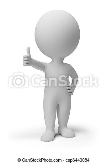 3d gente pequeña - pose positiva - csp6443084