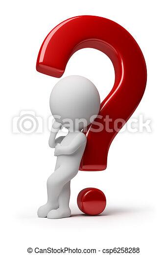 Tres personas pequeñas, una pregunta complicada - csp6258288